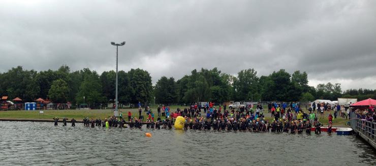Schwimmstart Erfurt-Triathlon.