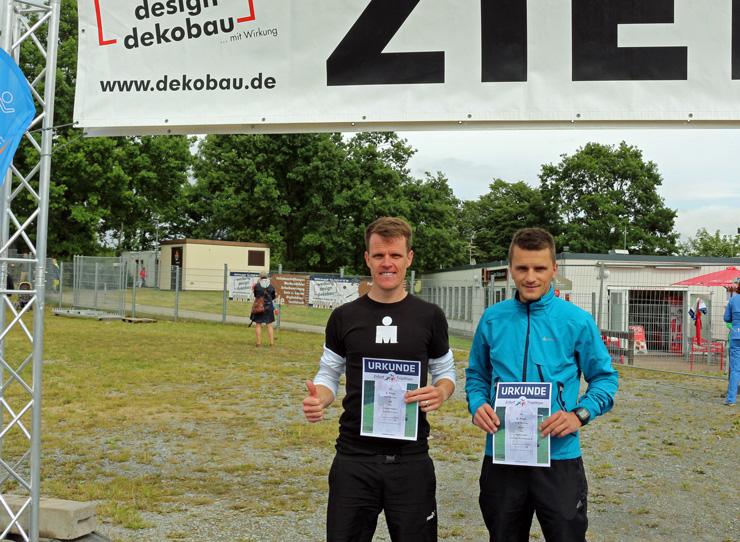 Christian und ich nach dem Rennen.